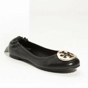 EUC Tory Burch 'Reva' Ballet Flats Black Size 5